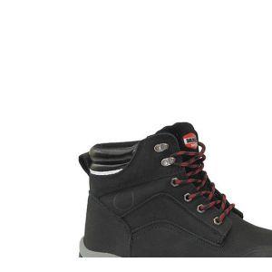 Solidur Chaussures montante de sécurité en cuir Nubuck noir et membrane étanche BUILD360 S3 SRC WR - taille: 44