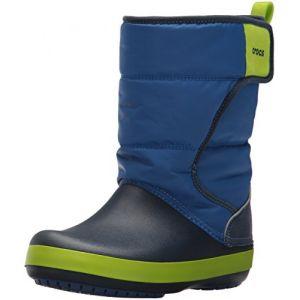 Crocs LodgePoint Snow Boot Kids, Mixte Enfant Bottes, Bleu (Blue Jean/Navy), 24-25 EU