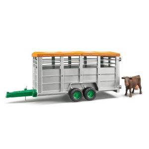 Bruder Toys 02227 - Remorque bétaillère avec vache