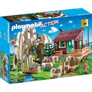 Playmobil 9126 - Action : Rocher d'escalade avec espace d'accueil