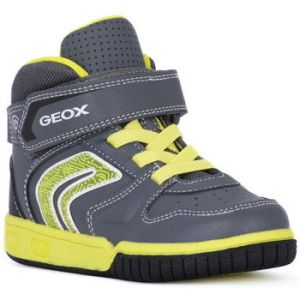 Geox Jr Gregg B, Baskets Hautes garçon, Gris (Grey/Lime C0666), 32 EU
