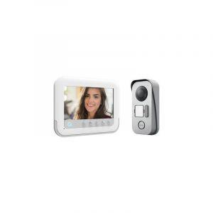 Avidsen 112271 Interphone vidéo 2 fils Set complet 1 foyer blanc, gris