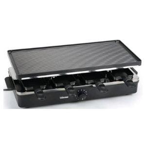 Tristar RA-2995 - Raclette avec plaque lisse et grill 8 poêlons
