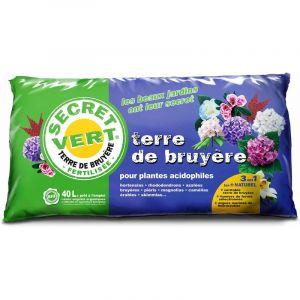 Secret vert Terre de bruyère bio pour plantes acidophiles 40 L