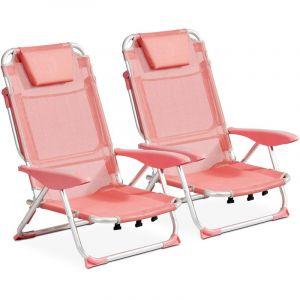 Clic clac des plages fauteuil Lot de 2 Corail CLIC CLAC DES PLAGES BY INNOV'AXE