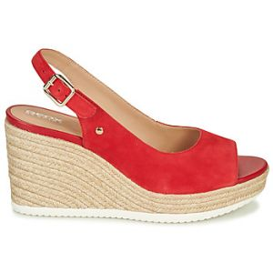Geox Sandales D PONZA Rouge - Taille 36,38,39,41
