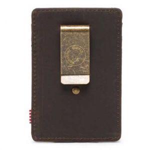 Herschel Credit Card Holder Raven Leather 3cc RFID Accessories Cuir I