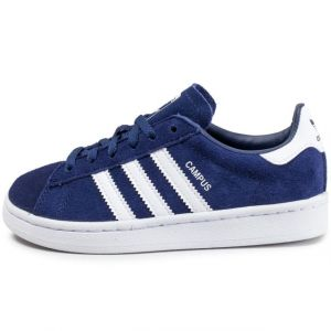 Adidas Campus C, Chaussures de Basketball Mixte Enfant, Multicolore (Darkblue/Ftwwht/Ftwwht By9593), 28 EU
