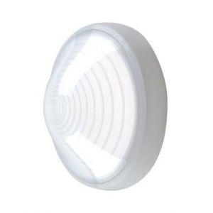 Ebénoid Hublot extérieur fluo 1X13W Ø 250mm blanc polycarbonate lampe 4000K G24q-1 ballast elec CL2 IK08 IP44 SUPER 62 078682
