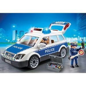 Playmobil 6920 City Action - Voiture de Police avec gyrophare et sirène