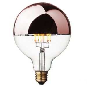 Ampoule LED intensité variable (D.12,5cm) calotte cuivrée (E27)