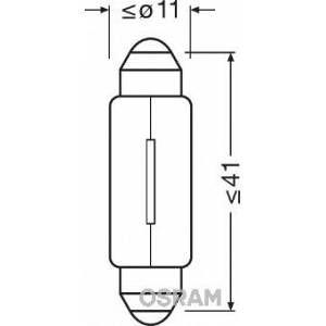 Osram Ampoule C5W 12V 5W blanche