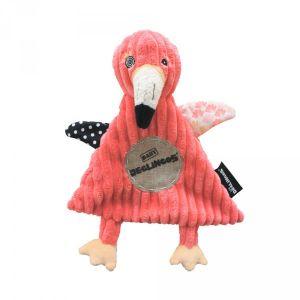 Les Déglingos Doudou baby le flamant Flamingos