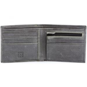 Dudu Portefeuille pour Homme Vintage en Cuir véritable à l'aspect Vieilli avec Porte-Monnaie et Fentes avec Zip Noir