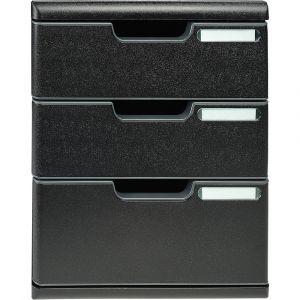 Exacompta 325414D - Modulo A4 EcoBlack 3 tiroirs (1x110 + 2x82) coloris noir