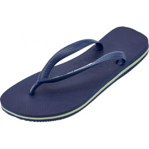 Havaianas Brasil Logo, Tongs Mixte Adulte, Bleu (Navy Blue 0555), 43/44 EU (41/42 Brazilian)
