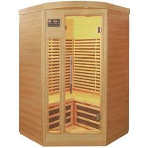 Sauna d?angle infrarouge panneaux carbone 2150W 2-3 places - SNÖ