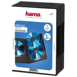 Hama 51272 - 5 boîtiers pour 3 DVD