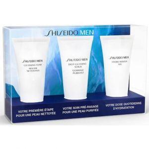 Shiseido Men - Coffret Hydro Master gel, mousse nettoyante et gommage purifiant