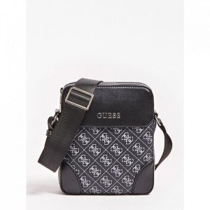 Guess MINI SACOCHE MANHATTAN LOGO ALL-OVER Noir