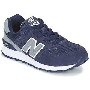 New Balance 574 High Visibility, Sneakers Basses Mixte Enfant, Bleu (Navy), 37 EU