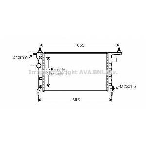 Ava Quality Cooling Radiateur OPEL CORSA (247OLA2184)