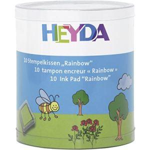 Heyda 204888470 - 10 Tampons encreurs Rainbow en boîte