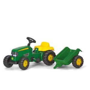 Rolly Toys Tracteur à pédales John Deere avec remorque