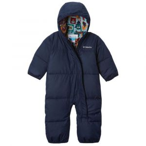 Columbia Combinaisons Snuggly Bunny Bunting - Collegiate Navy / Pine Green Critter Block - Taille 6-12 Mois