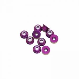 Maxam 450261 - Écrous Hex. Bloq. 4 mm alu violet x 10