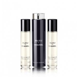 Chanel Bleu de Chanel - Eau de parfum pour homme - 3 x 20 ml
