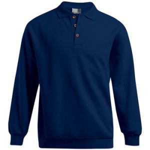 Promodoro Polo sweat manches longues Hommes tion, S, bleu marine