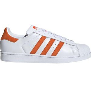 Adidas Superstar, Chaussures de Gymnastique Homme, Blanc Orange/FTWR White, 36 EU