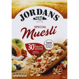 Jordans Flocons d'avoine, de blé et d'orge complets, 32% de fruits - Le paquet de 750g