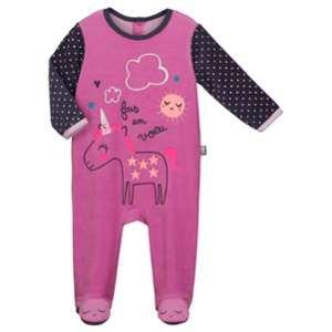 e2286ea26f23e Petit Béguin Pyjama bébé velours Licorne - Taille 36 mois (98 cm ...