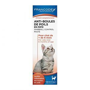 Francodex Anti boules de poils pour chat en pâte Tube 70 g
