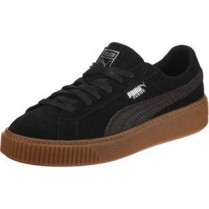 Puma Suede Platform Animal, Sneakers Basses Femme, Noir Black-Silver 01, 37 EU