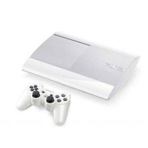 Sony Console PS3 blanche Ultra Slim 500 Go + une manette blanche Ultra Slim
