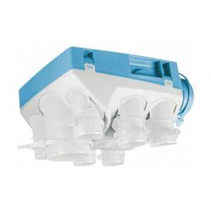 Unelvent Groupe VMC simple flux hygroréglable Ozéo ST 2 - 18W - 30dB - 6 sanitaires - Bouches à piles