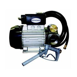 Renson Pompe transfert de fuel 230V 70l/min avec flexible 6 mètres et pistolet alu