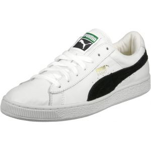 Puma Basket Classic, Basses homme- Blanc (White-black)- 11 UK 46 EU