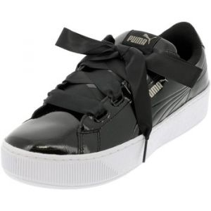 Puma Vikky Platform Ribbon P, Baskets Basses Femme, Noir Black Black, 40 EU