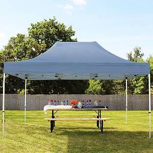Intent24 Tente pliante 3x4,5 sans bâches de côté gris fonce PROFESSIONAL tente pliable ALU pavillon barnum.FR