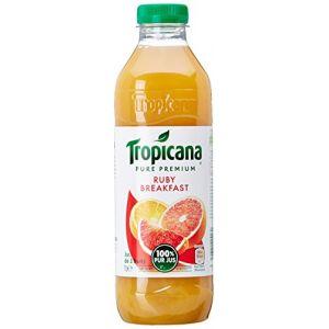 Tropicana Pur jus d'orange, de pamplemousse et d'orange sanguine sans sucres ajoutés, ruby breakfast - La bouteille de 1L