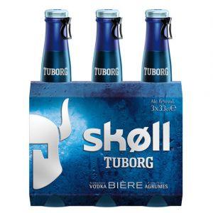 Skoll Bière aromatisée vodka & agrumes, 6% vol. - Les 3 bouteilles de 33cl