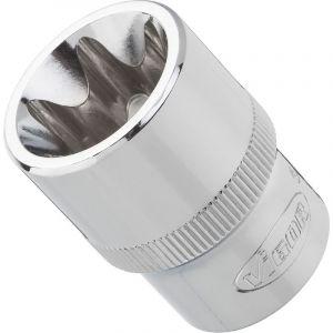 Vigor Carré femelle entraînement 12,5 = 1/2 Douille TORX® pour profil TORX® extérieur V2733 14 L.38 mm