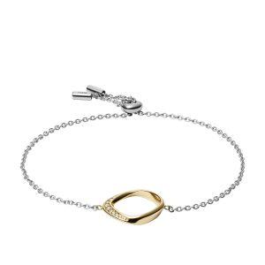 Fossil Bracelet JF03200998 - CLASSICS Argenté Cristaux Transparents 21,6 cm Acier Femme