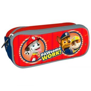 Trousse scolaire double Red Paw Some Work! Pat'Patrouille