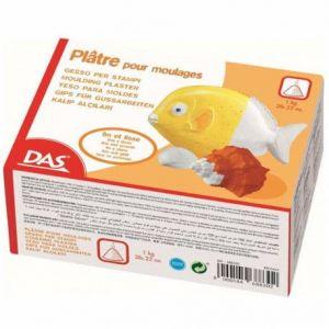 DAS Boîte 1kg de poudre de plâtre pour moulage