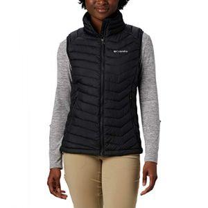Columbia Powder Lite Doudoune sans Manches Femme, Black, FR (Taille Fabricant : XS)